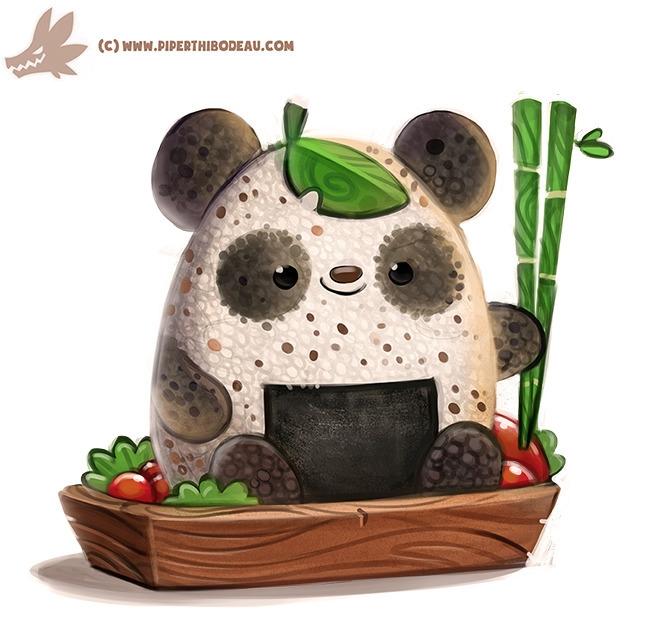 Daily Paint Rice Ball Panda - 1157. - piperthibodeau | ello