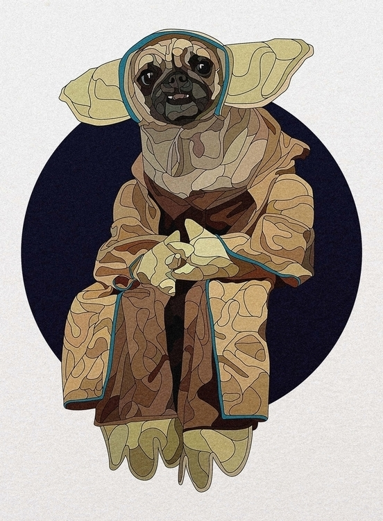 Yoda - illustration, vectorart, yoda - nickolayapraksin | ello