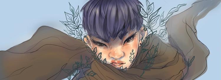 Header - illustration, characterdesign - imaniking   ello
