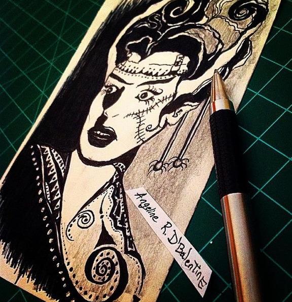 Mock Bride - drawing, mockup, Dbalentine - dbalentine | ello
