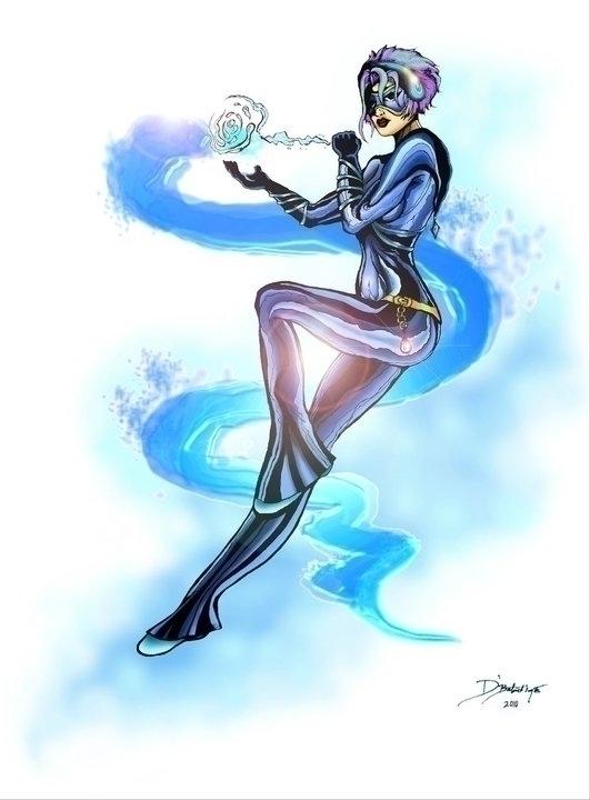 Iysis, comic character Angeline - dbalentine | ello