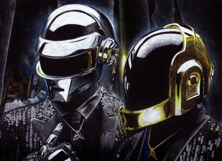 daft punk illustration prismaco - giulianobuffi | ello