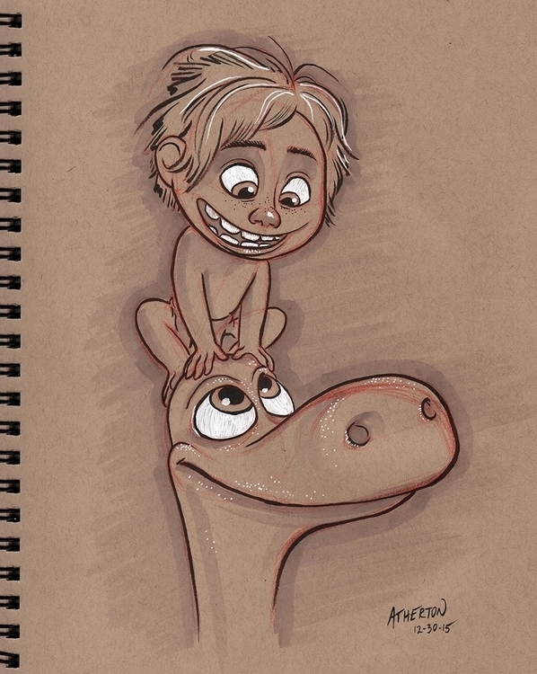 Good dinosaur toned tan paper - illustration - jimatherton | ello