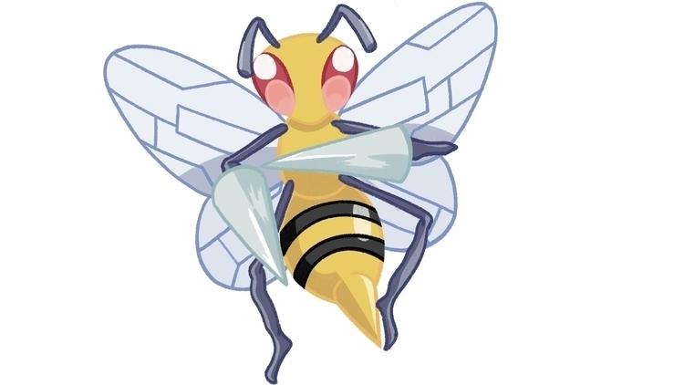 Beedrill - pokemon, beedrill, pokemonfanart - cslavin | ello