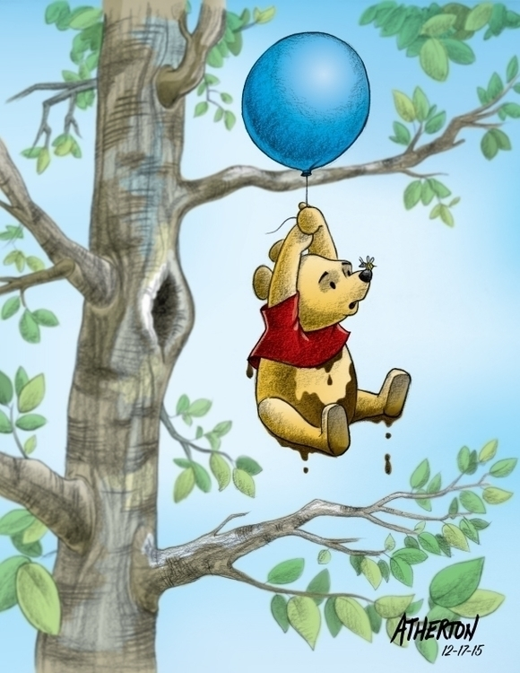 Pooh Bear - commission, winniethepooh - jimatherton   ello