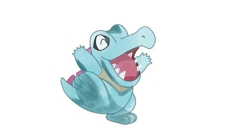 Totodile - Pokemon, totodile, pokemonfanart - cslavin | ello
