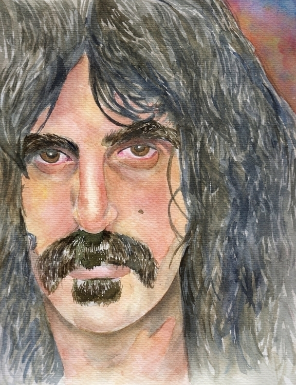 Frank Zappa portrait watercolor - giulianobuffi | ello