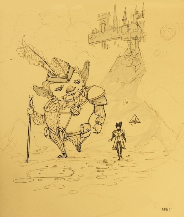 Walking Tetraline - sketch - mgaser | ello