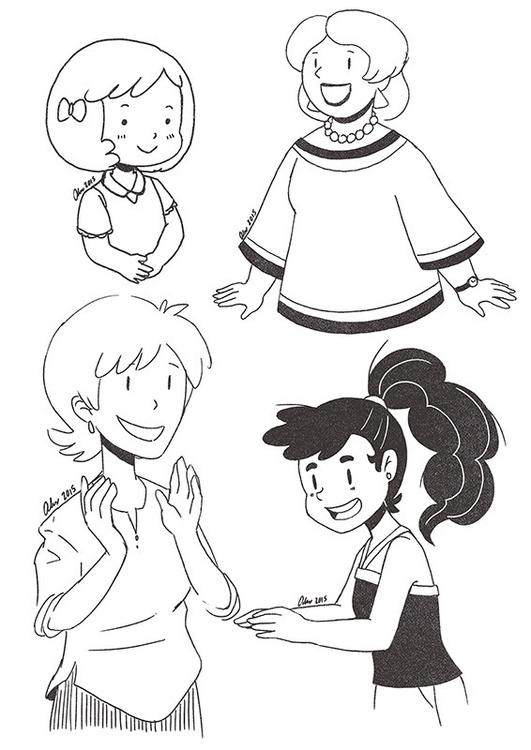 Ladies - women, girls, sketches - alexandrasketch | ello