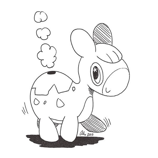 Numel doodle - numel, pokemon, fanart - alexandrasketch   ello
