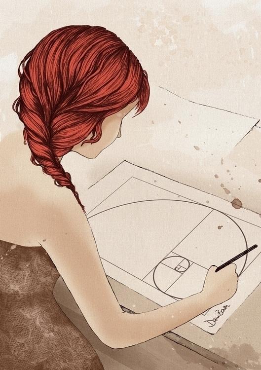 Golden Ratio Artist - illustration - danibaum | ello