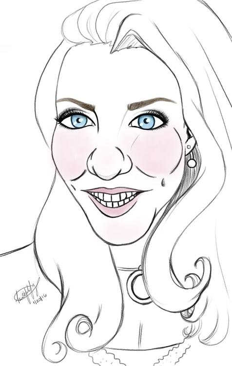 Digital caricature - illustration - awezumart | ello