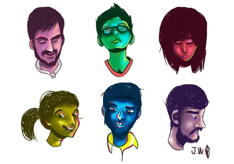 Light shadows - practice, faces - joniwaffle | ello