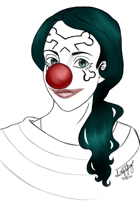 Digital Caricature girl cosplay - awezumart | ello
