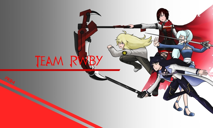 Team RWBY timeskip - illustration - fkim90 | ello