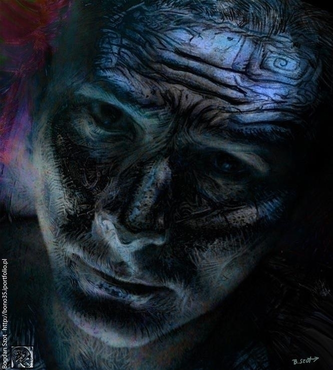 Sadness - illustration,digitalpainting,background,skull - bono35 | ello