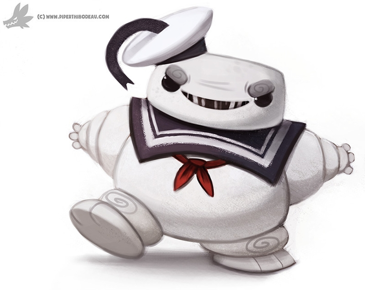 Daily Painting 878. Stay Puft M - piperthibodeau | ello