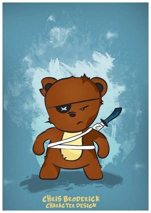 Brutus Bear - illustration, illustrator - brod3rick | ello