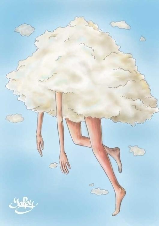 Head Clouds - illustration, digitalart - yappy-6625 | ello