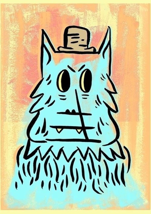 Wolf Man - illustration, drawing - joshn-1546   ello