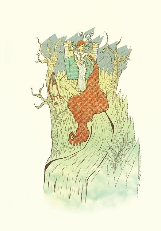 landing - illustration, drawing - poormanshield | ello