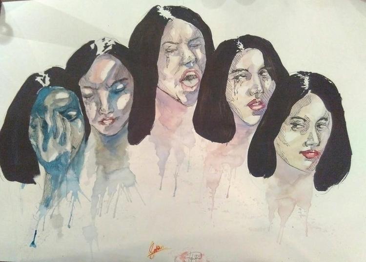 Sendu Melagu - illustration, watercolor - headbangindude | ello