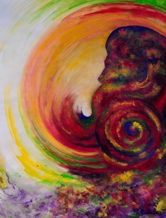 Unwind - illustration, watercolor - andreapiccone | ello