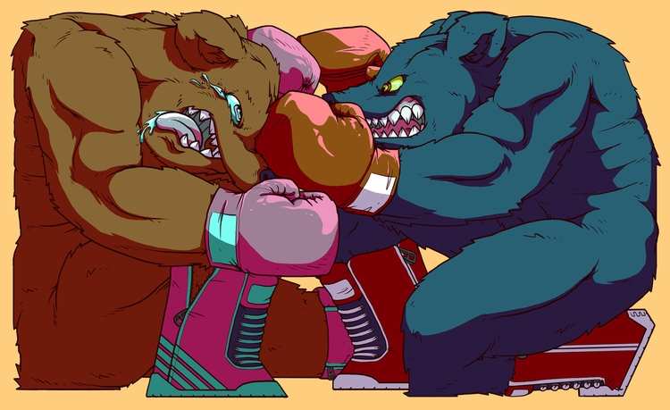 Boxin' Bears - illustration, characterdesign - joeyrex | ello