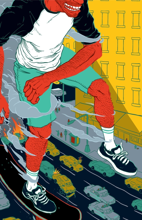 Skating NYC Feels - illustration - joeyrex | ello
