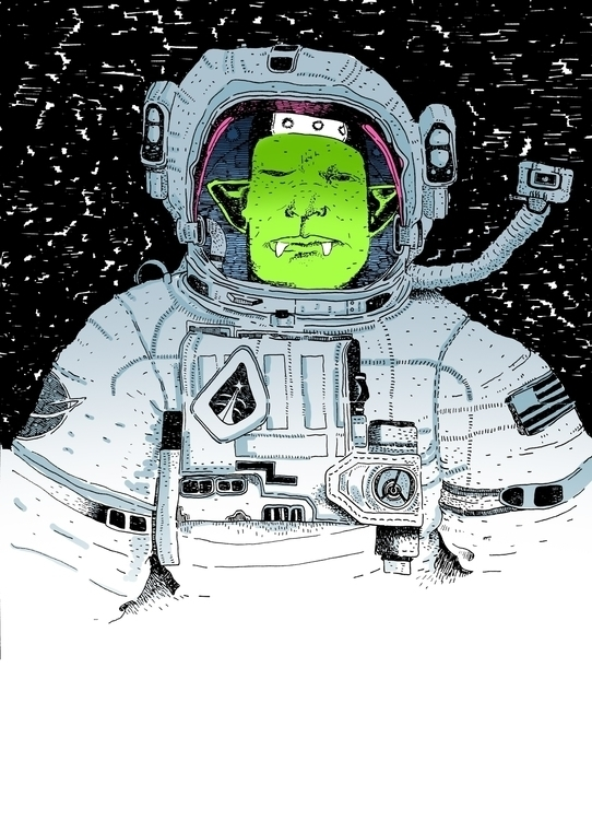 Space Goblin - illustration, drawing - zoso262 | ello