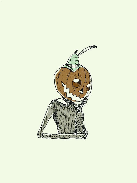 Pumpkinhead - illustration, drawing - zoso262 | ello