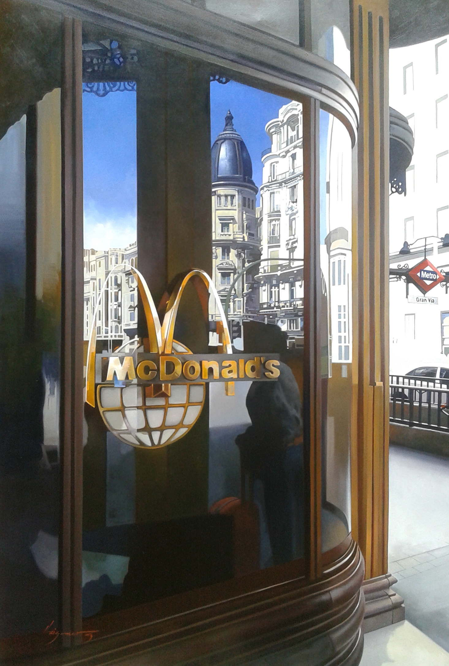 Mc Shopping 120x80 cm. oil canv - josehiguera | ello