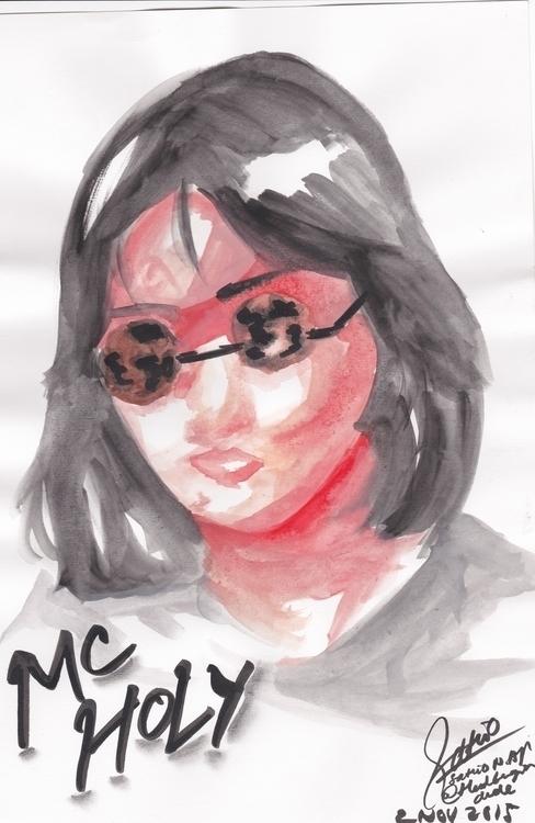 Nigguh - doodle, drawing, fineart - headbangindude   ello