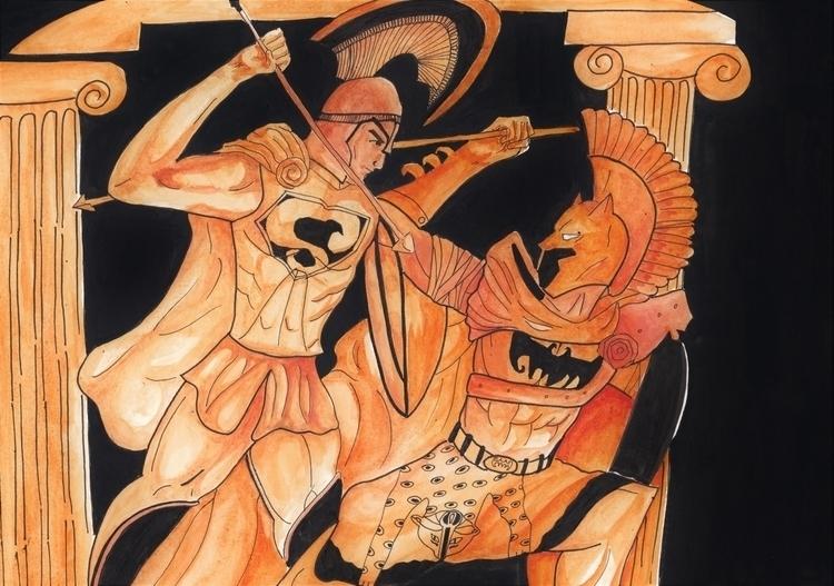 Batman Supe - illustration, drawing - headbangindude | ello