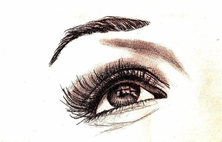 eyes, graphite, draw, realistic - amandaloyolla | ello