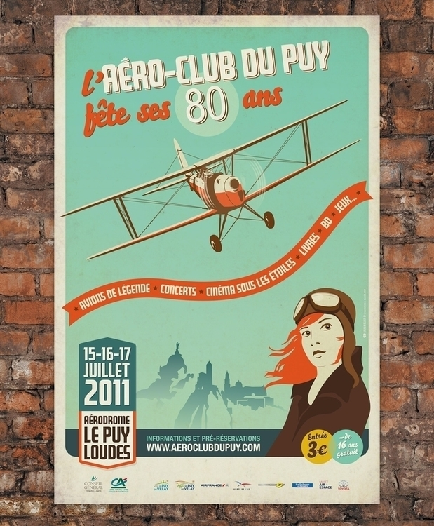 Aéroclub du Puy - illustration, graphicdesign - sylvainollier-9768 | ello