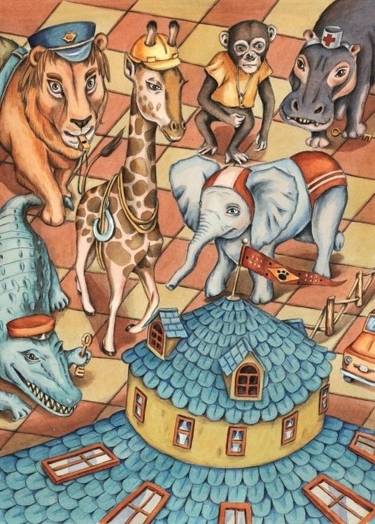 Animal House - illustration, painting - gerdamartens | ello