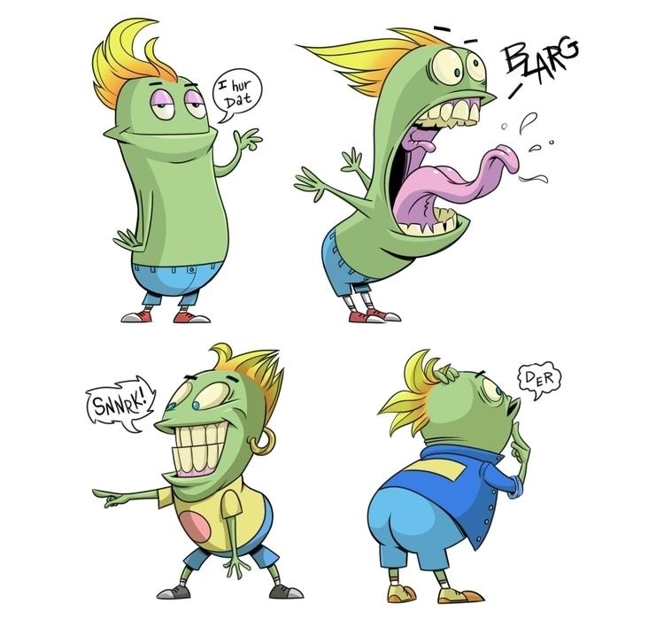 Lean Green Bean - illustration, animation - robking21 | ello