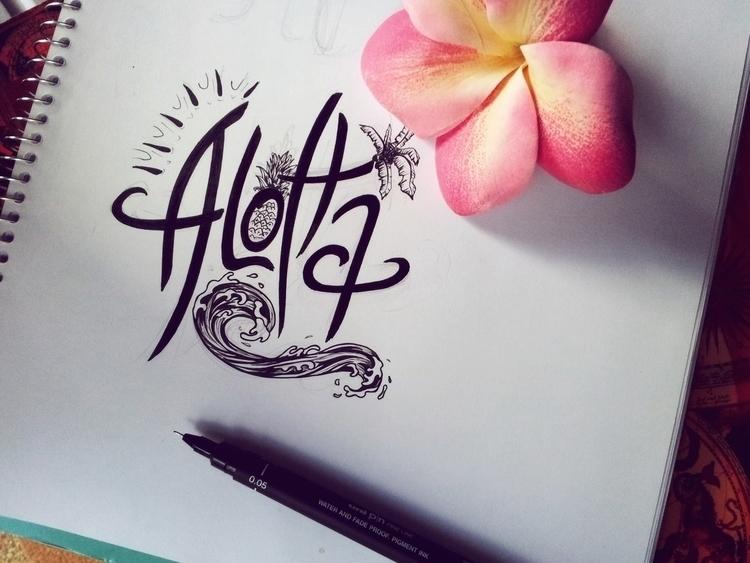 Aloha - aloha, lettering, handlettering - tiki-1251 | ello