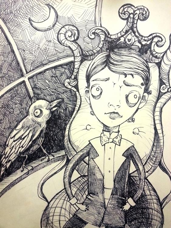 Raven - poe, ink, creepy, theraven - amaclure | ello