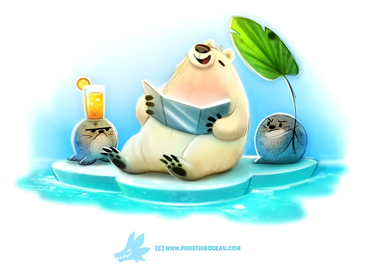Daily Paint 1288. Solar Bear - piperthibodeau | ello