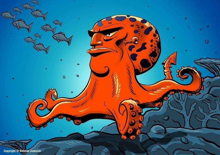 Octopus Character Design - characterdesign - bohdanjankovic | ello