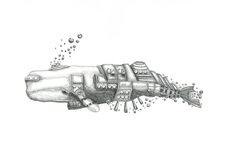 Submarine Whale - samuelguillotel | ello