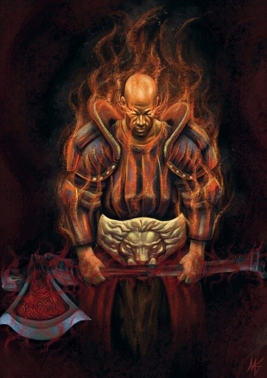 King Kaom - illustration, painting - blagojemilojevic | ello