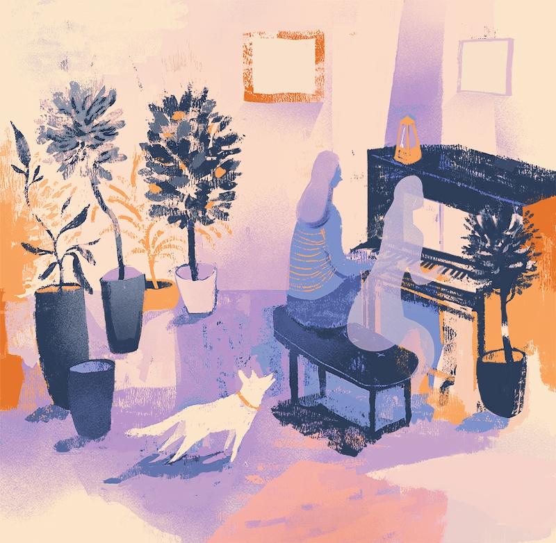 Piano - illustration, digitalpainting - nicolexu-8498 | ello