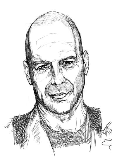 Bruce Willis - sketch, fanart - tokkatrain | ello