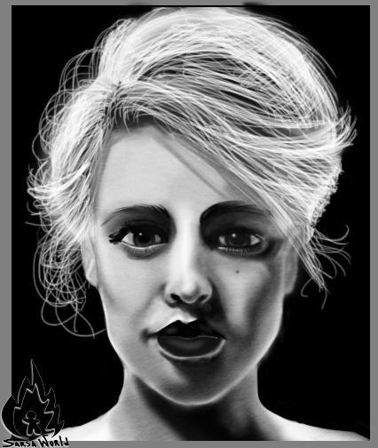digitalart, portrait, woman, frontlight - amandaloyolla | ello
