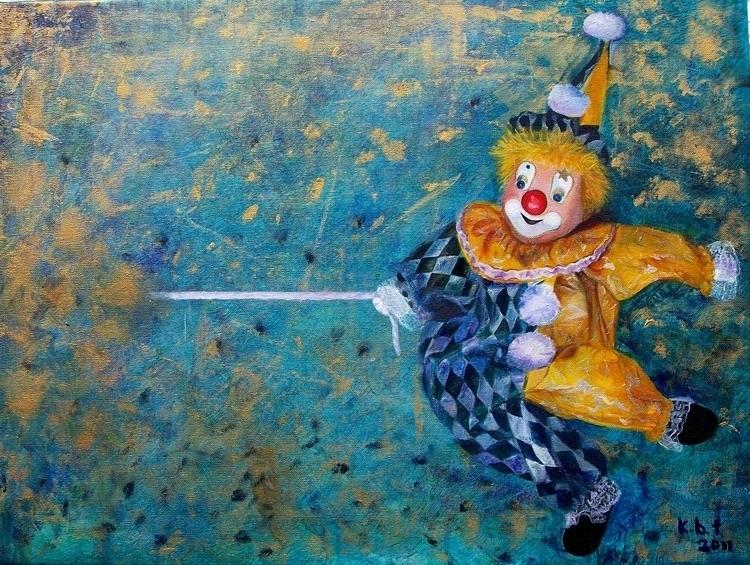 Harlequin, acrylics canvas, exp - kasiaturajczyk | ello