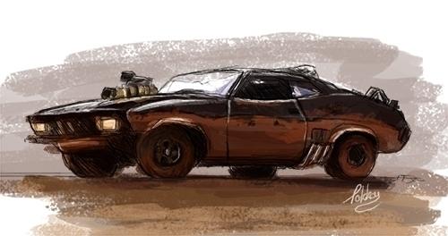 Mad Max Interceptor - sketch, sketchbook - tokkatrain   ello