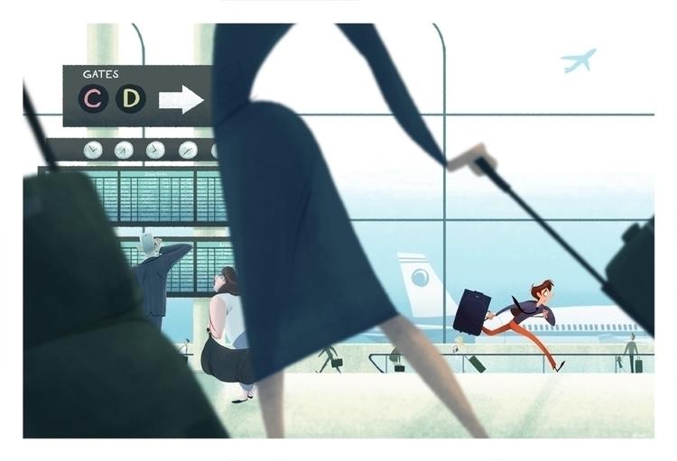 1:55 Arrival, 2:00 Departure - art - nickswift | ello